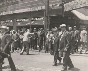 street_preaching in chicago 1930